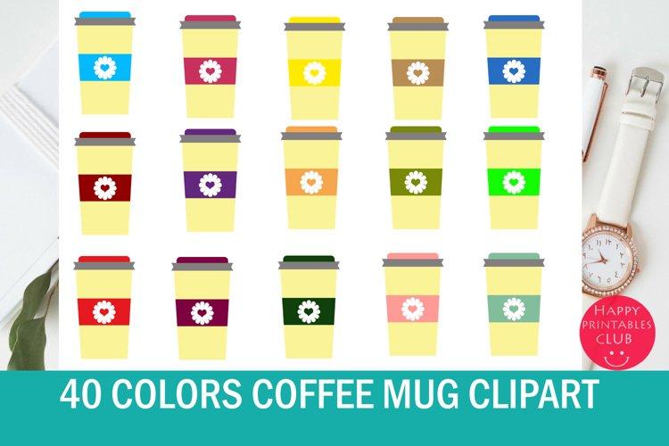 40 Coffee Mug Clipart- Colorful Travel Coffee Mugs Clipart