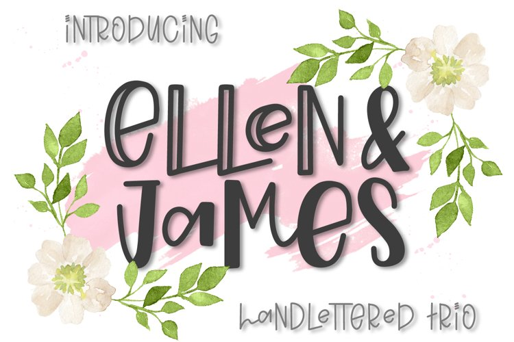 Ellen & James - A Handlettered Trio of Fonts example image 1