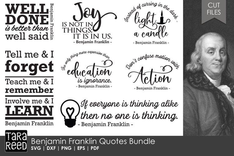 Benjamin Franklin Quotes Bundle example image 1