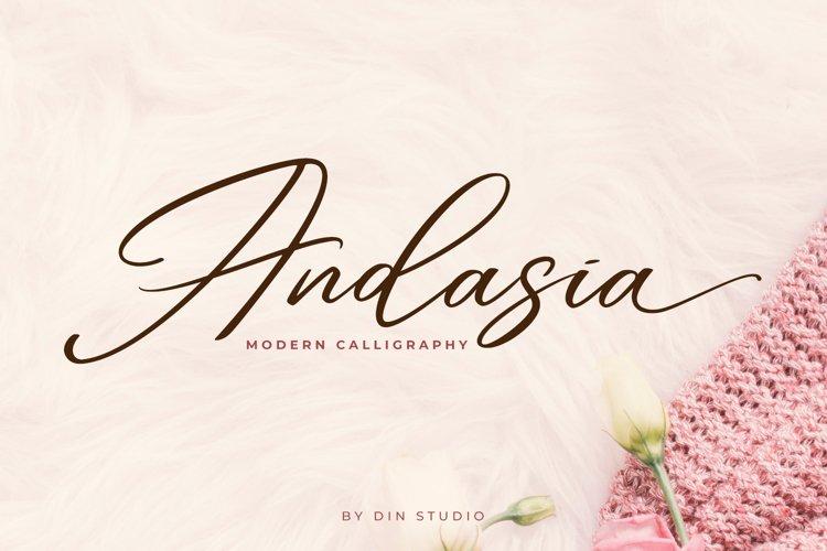 Andasia Script example image 1