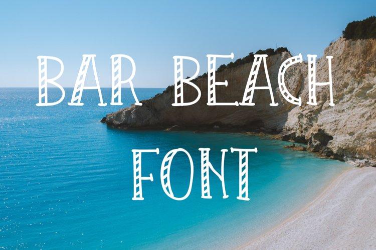 Bar Beach Font example image 1