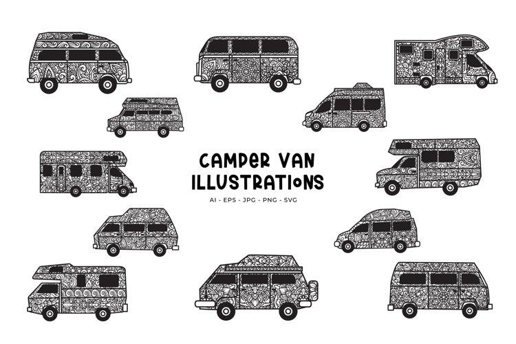 Camper Van Illustrations example image 1
