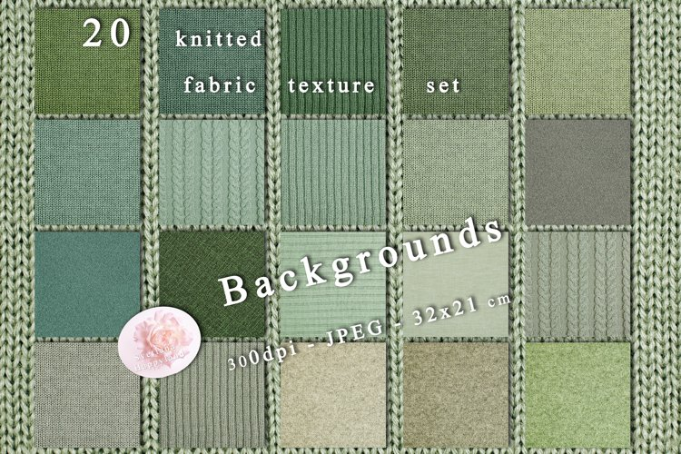 20 knitted fabric texture set