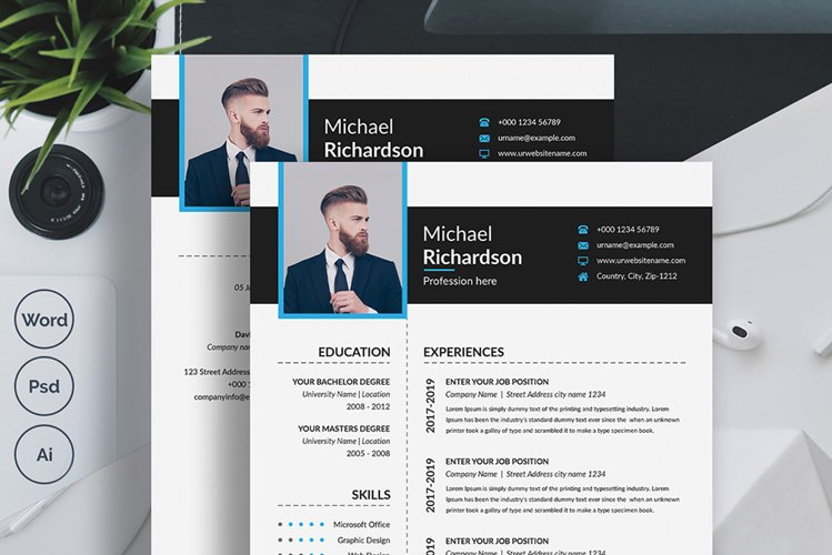 Modern Creative Resume Template example image 1
