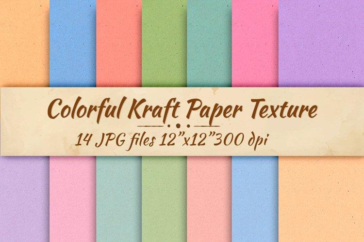 Colorfrul kraft paper Digital paper Cardboard background example image 1