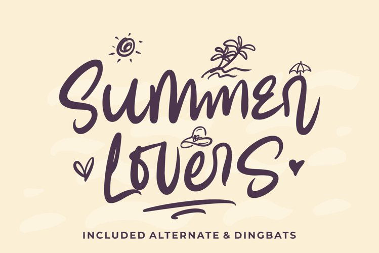 Summer Lovers with Alternate and Dingbat example image 1