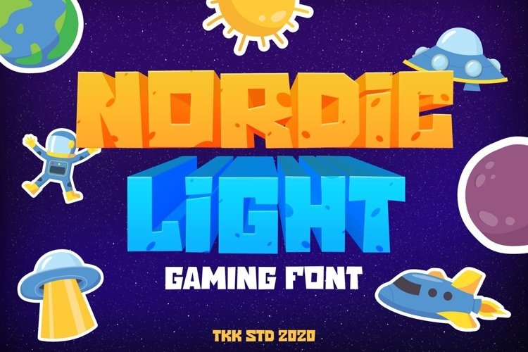 Nordic Light - Gaming Font example image 1