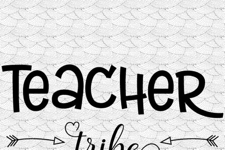 Teacher tribe Svg,Dxf,Png,Jpg,Eps vector file example image 1