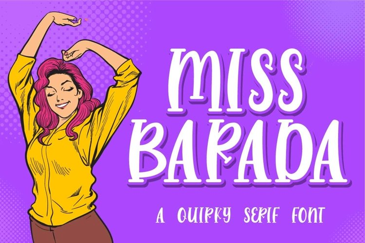 Miss Barada - a Quirky Serif Font example image 1