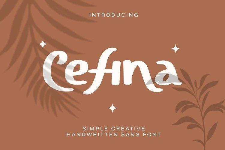 Web Font Cefina - Handwritten Sans Font example image 1