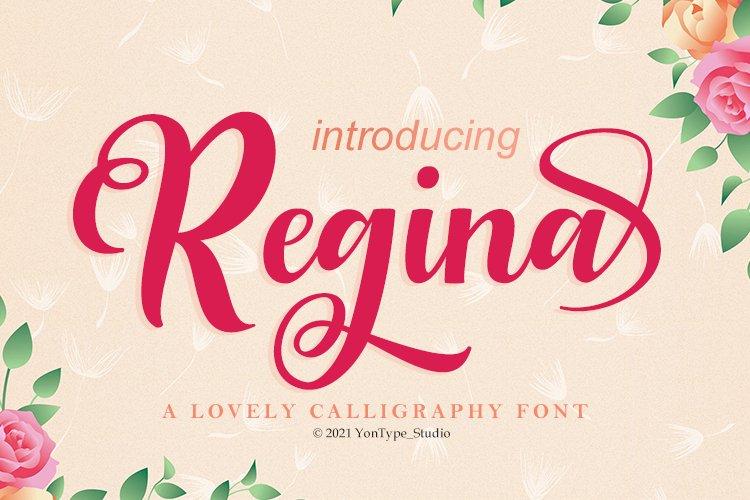 Regina a Loveli Script Font