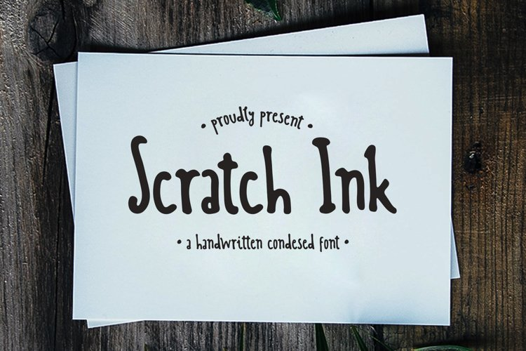 Scratch Ink - A Handwritten Condesed Font