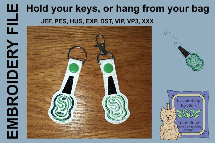 ITH Green Nail Polish Vinyl Key Fob or Bag Tag - Snap Tab example image 1