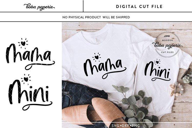 Mama and Mini Svg, Matching shirt svg example image 1
