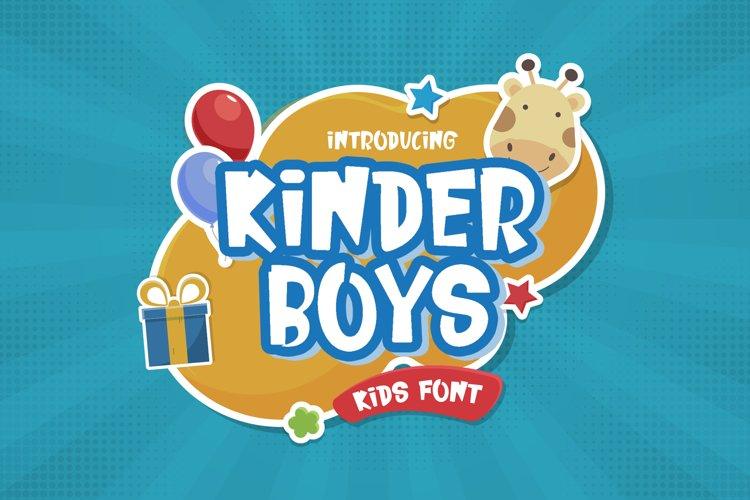 Kinder Boys - Playful Font example image 1
