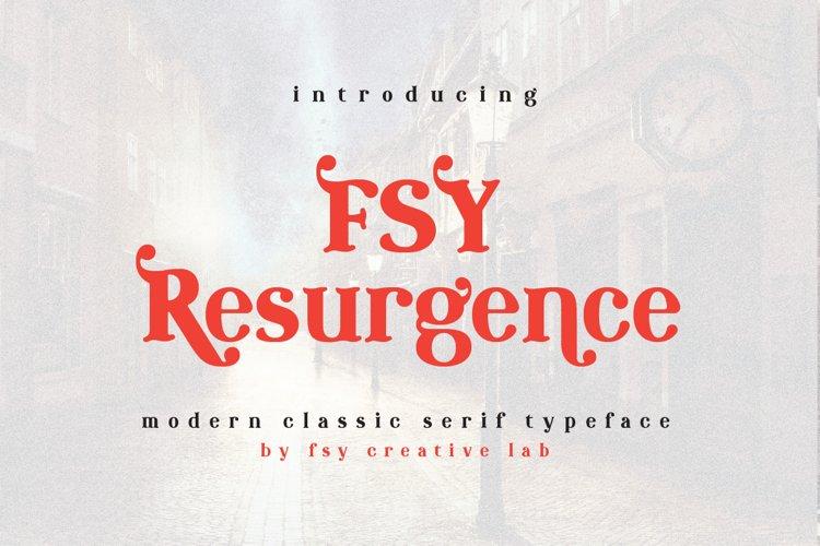 FSY Resurgence   Modern Classic Typeface