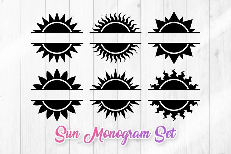 Sun Clipart Monogram SVG Bundle example image 1