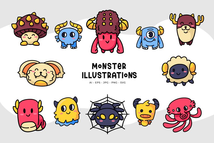 Monster Illustrations example image 1