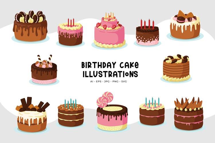 Birthday Cake Illustrations