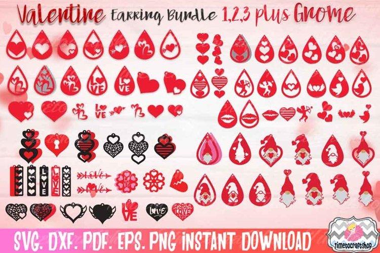 Valentine Earring Huge Bundle 123, Valentine Gnome Earring
