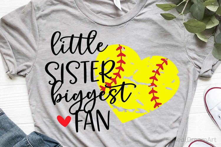 Little Sister Biggest Fan SVG, DXF, PNG, EPS