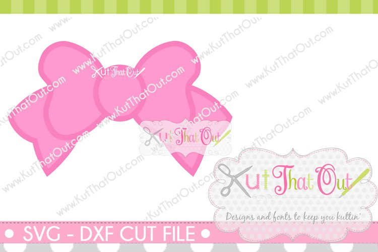 Bow Monogram Font Frame SVG & DXF Cut File example image 1