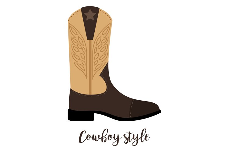 Shoes with text cowboy style example image 1