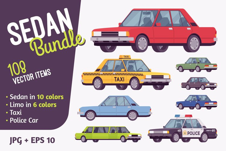 Sedan type car bundle