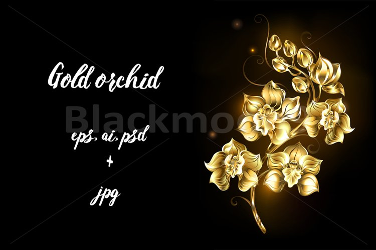 Shining Golden Orchid example image 1