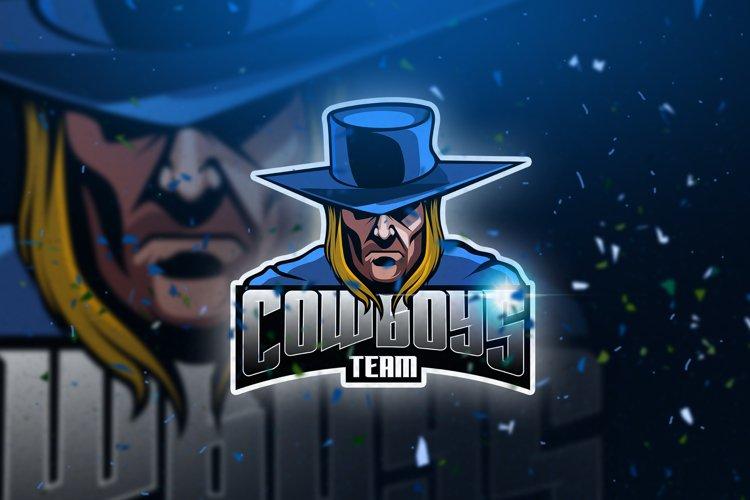 Cowboys - Mascot & Esport Logo example image 1