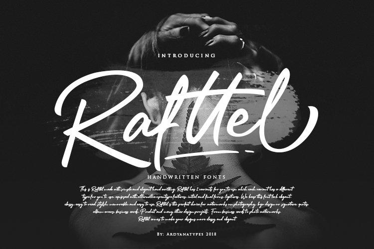 Rafttel Script Font example image 1