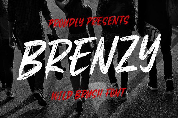Brenzy - Wild Brush Font example image 1