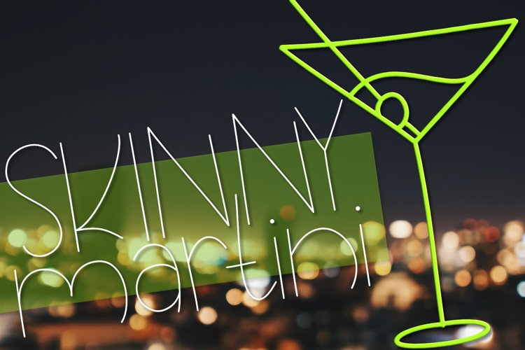 Skinny Martini | A Thin Font with Drink Doodles example image 1