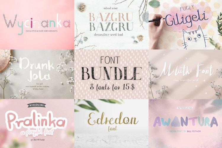 8 fonts bundle vol.1