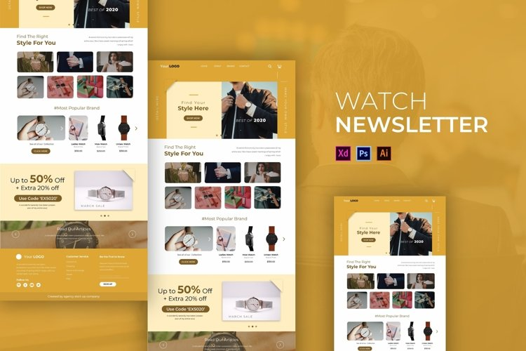 Watch   Email Newsletter Template example image 1