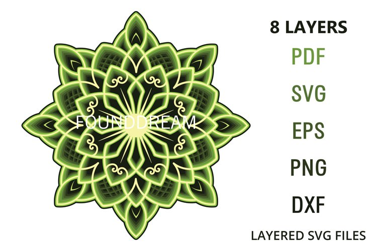 8 layers Mandala example image 1