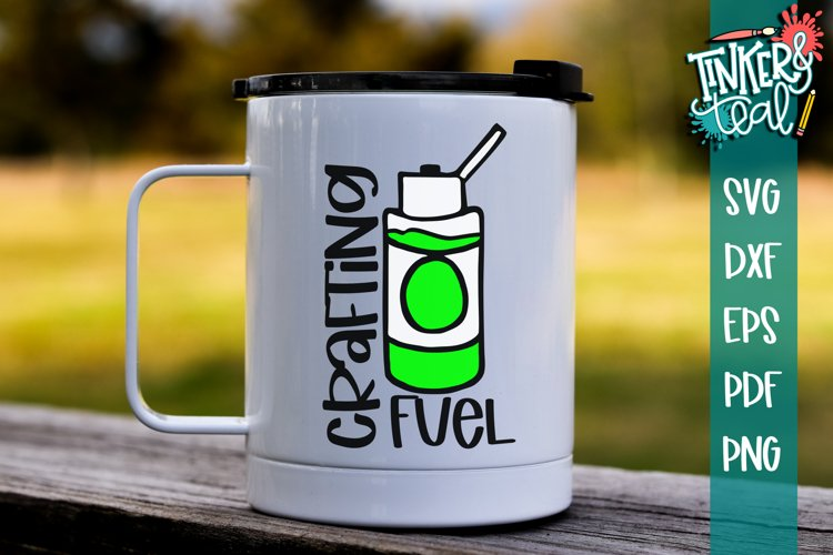 Crafting Fuel Funny Coffee SVG example image 1