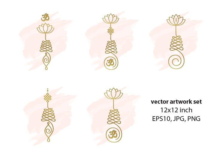 unalome - vector artwork set example image 1