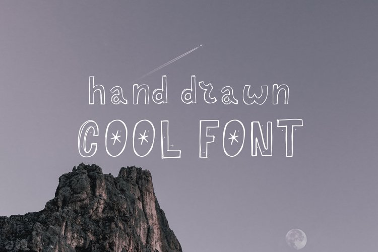 Hand drawn Cool Font example image 1