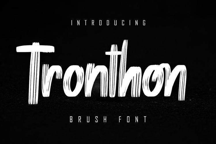Tronthon Brush Font example image 1