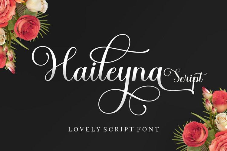 Haileyna Script example image 1