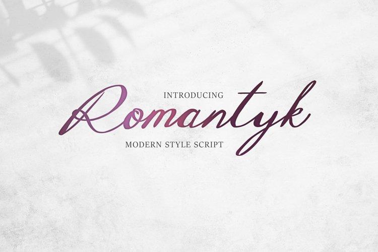 Romantyk Script example image 1