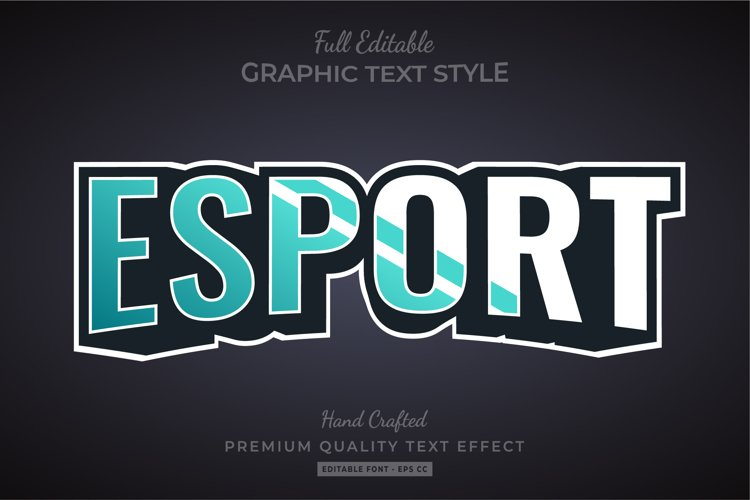 Esport 3d Text Style Effect Premium example image 1