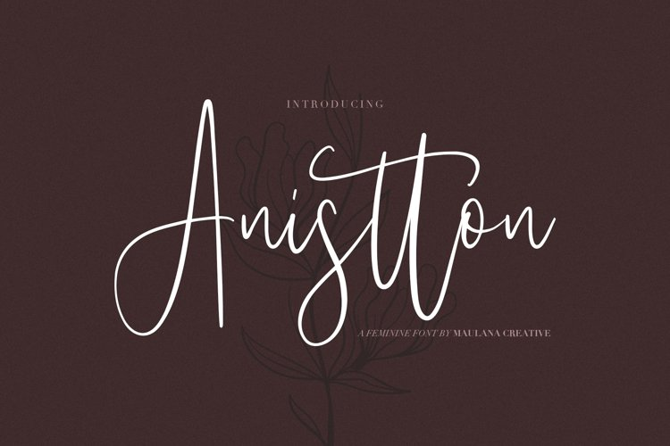 Anistton - Feminine Font example image 1