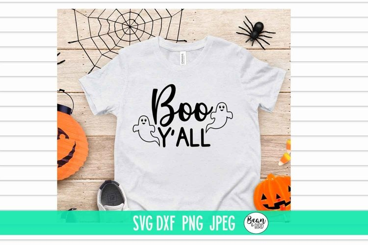 Boo Y'ALL Halloween SVG example image 1