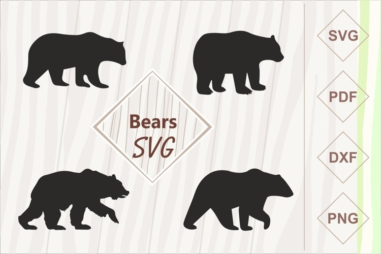 Bears SVG bundle example image 1