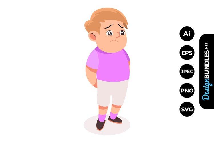 Sad Boy Clipart example image 1