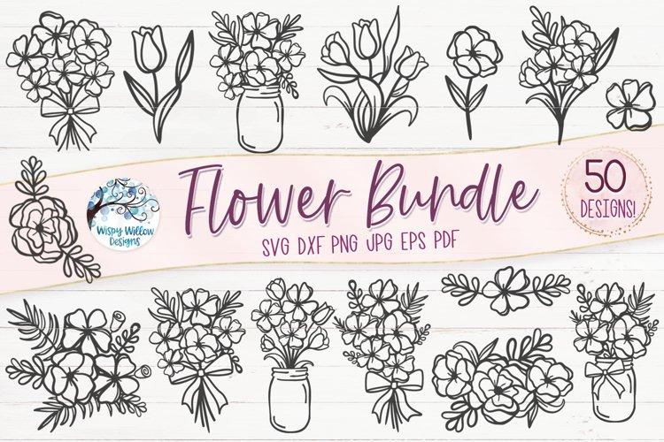 Flower SVG Bundle | 50 Flower SVG Cut Files