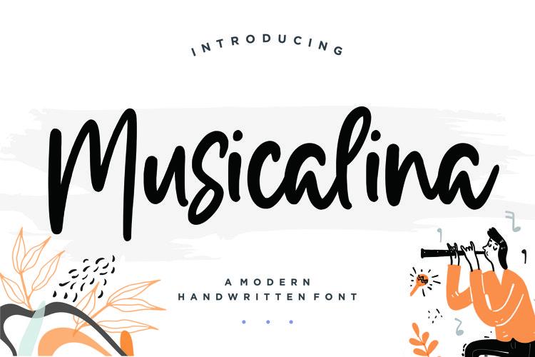 Musicalina Modern Handwritten Font example image 1