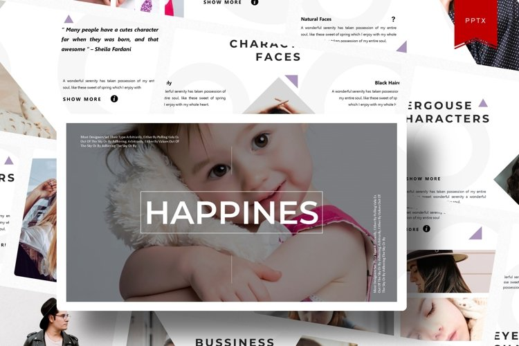 Happines | Powerpoint Template example image 1